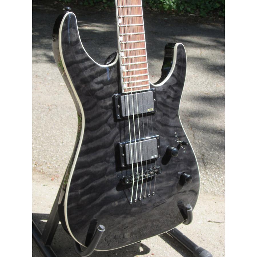 Esp Ltd Mh 401nt Qm Electric Guitar See Thru Black