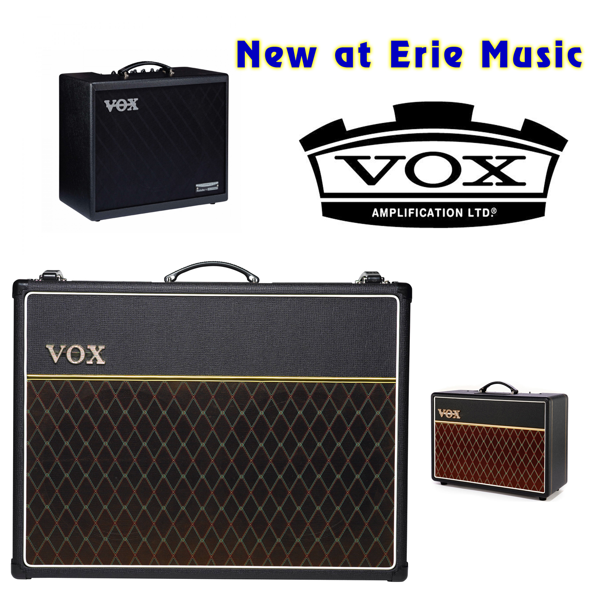 Vox Amps now at Erie Music!